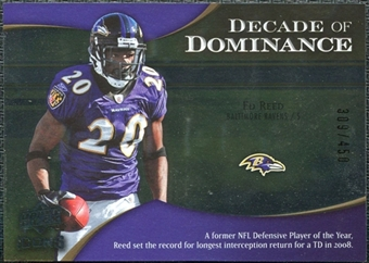 2009 Upper Deck Icons Decade of Dominance Silver #DDER Ed Reed /450