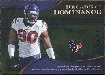 2009 Upper Deck Icons Decade of Dominance Silver #DDMW Mario Williams /450