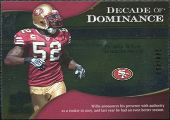 2009 Upper Deck Icons Decade of Dominance Silver #DDPW Patrick Willis /450