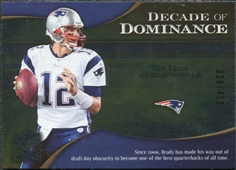 2009 Upper Deck Icons Decade of Dominance Silver #DDTB Tom Brady /450
