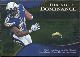 2009 Upper Deck Icons Decade of Dominance Silver #DDTO LaDainian Tomlinson /450