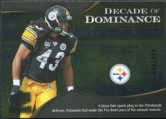 2009 Upper Deck Icons Decade of Dominance Silver #DDTP Troy Polamalu /450