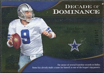 2009 Upper Deck Icons Decade of Dominance Silver #DDTR Tony Romo /450