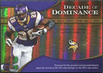 2009 Upper Deck Icons Decade of Dominance Gold #DDAP Adrian Peterson /130