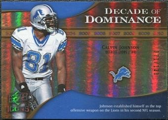 2009 Upper Deck Icons Decade of Dominance Gold #DDCJ Calvin Johnson /130
