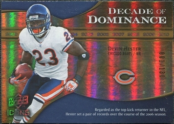 2009 Upper Deck Icons Decade of Dominance Gold #DDDH Devin Hester /130