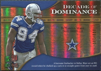 2009 Upper Deck Icons Decade of Dominance Gold #DDDW DeMarcus Ware /130