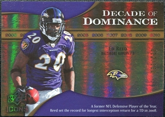 2009 Upper Deck Icons Decade of Dominance Gold #DDER Ed Reed /130