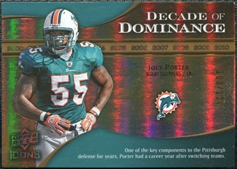 2009 Upper Deck Icons Decade of Dominance Gold #DDJP Joey Porter /130