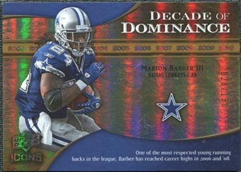 2009 Upper Deck Icons Decade of Dominance Gold #DDMB Marion Barber /130