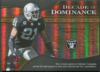 2009 Upper Deck Icons Decade of Dominance Gold #DDNA Nnamdi Asomugha /130