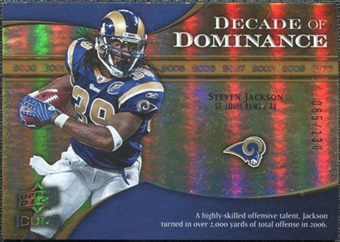 2009 Upper Deck Icons Decade of Dominance Gold #DDSJ Steven Jackson /130