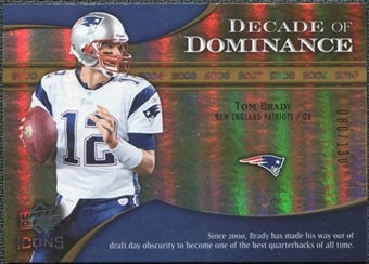 2009 Upper Deck Icons Decade of Dominance Gold #DDTB Tom Brady /130