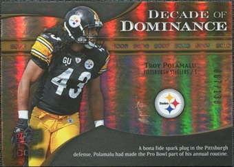 2009 Upper Deck Icons Decade of Dominance Gold #DDTP Troy Polamalu /130