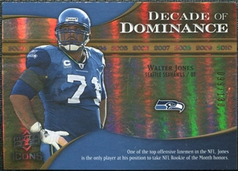 2009 Upper Deck Icons Decade of Dominance Gold #DDWJ Walter Jones /130
