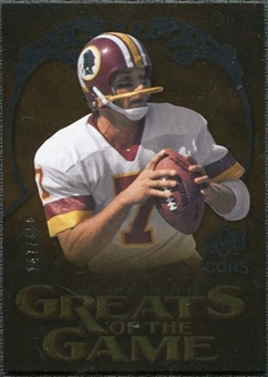 2009 Upper Deck Icons Greats of the Game Silver #GGJT Joe Theismann /450