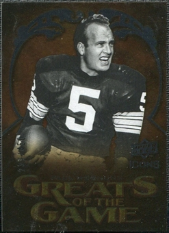2009 Upper Deck Icons Greats of the Game Silver #GGPH Paul Hornung /450