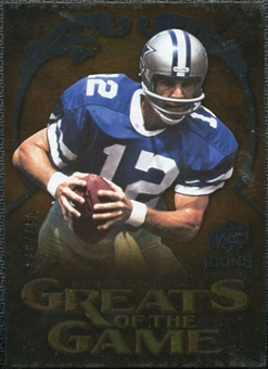 2009 Upper Deck Icons Greats of the Game Silver #GGRS Roger Staubach /450