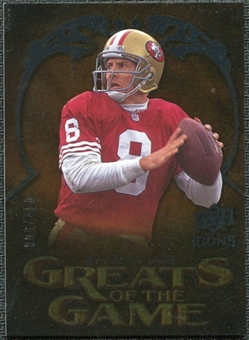 2009 Upper Deck Icons Greats of the Game Silver #GGSY Steve Young /450