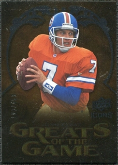 2009 Upper Deck Icons Greats of the Game Gold 199 #GGJE John Elway /199
