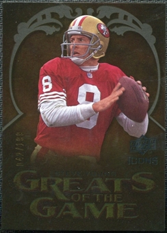 2009 Upper Deck Icons Greats of the Game Gold 199 #GGSY Steve Young /199