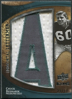 2009 Upper Deck Icons Immortal Lettermen #ILCB Chuck Bednarik/87/88/(Letters spell out EAGLES/ Total print run