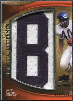2009 Upper Deck Icons Immortal Lettermen #ILGS Gale Sayers/120/(Letters spell out BEARS/ Total print run 600)