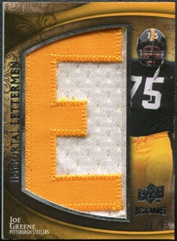 2009 Upper Deck Icons Immortal Lettermen #ILJG Joe Greene/74/75/(Letters spell out STEELERS/ Total print run 5