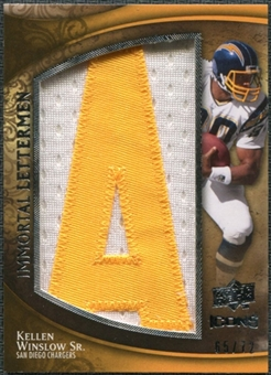2009 Upper Deck Icons Immortal Lettermen #ILKW Kellen Winslow Sr./71/72/(Letters spell out CHARGERS/ Total pri