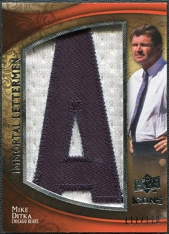 2009 Upper Deck Icons Immortal Lettermen #ILMD Mike Ditka /120 (Letters spell out BEARS/ Total print run 600)