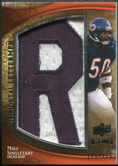 2009 Upper Deck Icons Immortal Lettermen #ILMS Mike Singletary/115/(Letters spell out BEARS/ Total print run)