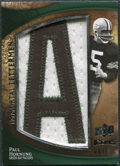 2009 Upper Deck Icons Immortal Lettermen #ILPH1 Paul Hornung/82/83/(Letters spell out PACKERS/ Total print run