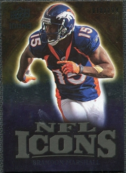 2009 Upper Deck Icons NFL Icons Gold #ICBM Brandon Marshall /199