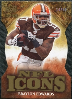 2009 Upper Deck Icons NFL Icons Die Cut #ICBH Braylon Edwards /40