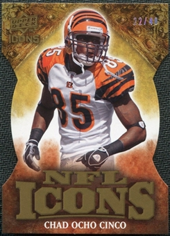 2009 Upper Deck Icons NFL Icons Die Cut #ICCJ Chad Ocho Cinco Johnson /40