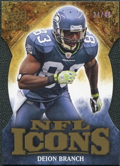 2009 Upper Deck Icons NFL Icons Die Cut #ICDB Deion Branch /40
