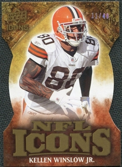 2009 Upper Deck Icons NFL Icons Die Cut #ICKW Kellen Winslow Jr. /40