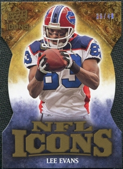 2009 Upper Deck Icons NFL Icons Die Cut #ICLE Lee Evans /40