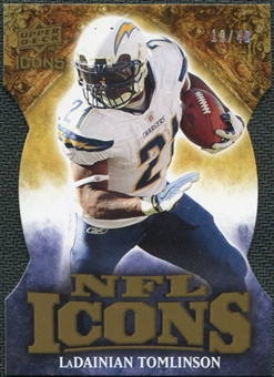 2009 Upper Deck Icons NFL Icons Die Cut #ICLT LaDainian Tomlinson /40