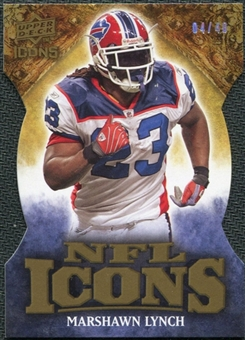 2009 Upper Deck Icons NFL Icons Die Cut #ICML Marshawn Lynch /40