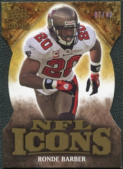 2009 Upper Deck Icons NFL Icons Die Cut #ICRB Ronde Barber /40