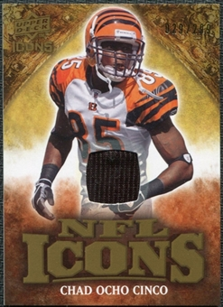 2009 Upper Deck Icons NFL Icons Jerseys #ICCJ Chad Ocho Cinco Johnson /299