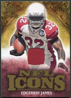 2009 Upper Deck Icons NFL Icons Jerseys #ICEJ Edgerrin James /299