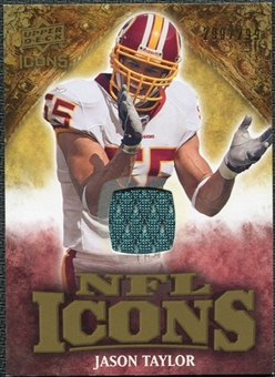 2009 Upper Deck Icons NFL Icons Jerseys #ICJT Jason Taylor /299