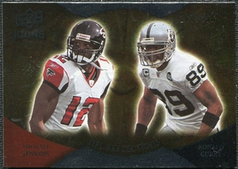 2009 Upper Deck Icons NFL Reflections Silver #RFJC Michael Jenkins Ronald Curry /450