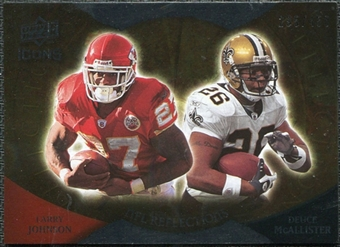 2009 Upper Deck Icons NFL Reflections Silver #RFJM Deuce McAllister Larry Johnson /450