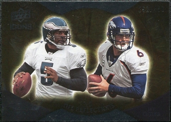 2009 Upper Deck Icons NFL Reflections Silver #RFMC Donovan McNabb Jay Cutler /450