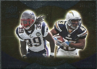 2009 Upper Deck Icons NFL Reflections Silver #RFMS Darren Sproles Laurence Maroney /450