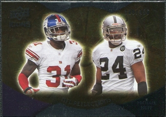 2009 Upper Deck Icons NFL Reflections Silver #RFRH Aaron Ross Michael Huff /450