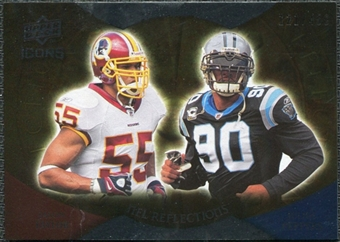 2009 Upper Deck Icons NFL Reflections Silver #RFTP Jason Taylor Julius Peppers /450